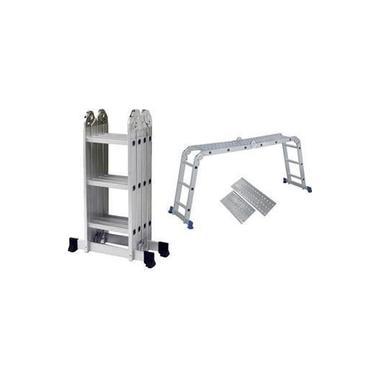 Escada Alumínio Articulada Multifuncional 4X3 - 3,39 m c/ Plataforma Mor