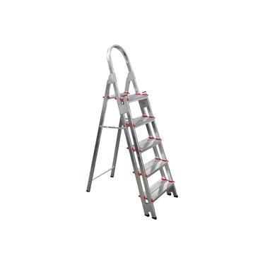 Escada Aluminio Com 5 Degraus Duplos Reforçada