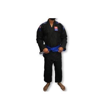 Kimono Trançado Flex Jiu Jitsu Adulto - Preto - Torah