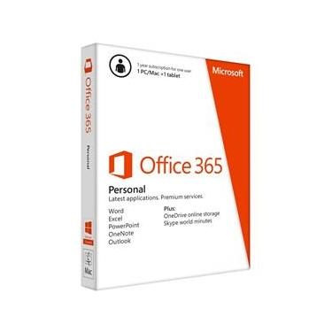 Office 365 Personal Microsoft - Para 1 Pc Ou Mac + 1 Tablet - Assinatura Anual - Qq2-00481