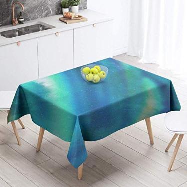 Imagem de Toalha de mesa para casa em algodão e linho 85 * 85 cm 140 * 140 cm 140 * 220 cm azul rosa roxo