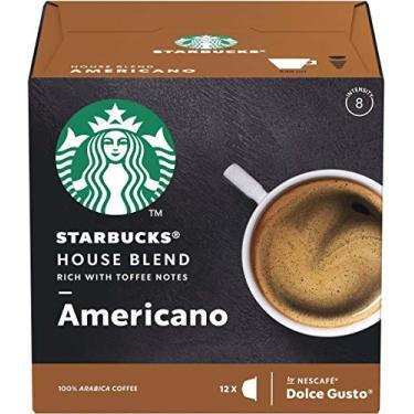 Café em Cápsula, Starbucks, Nescafé, Dolce Gusto, House Blend, Americano, 12 Cápsulas