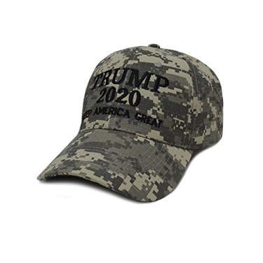 Boné de beisebol masculino e feminino Bestgift de algodão respirável EUA MAGA, Camouflage 2, tamanho �nico