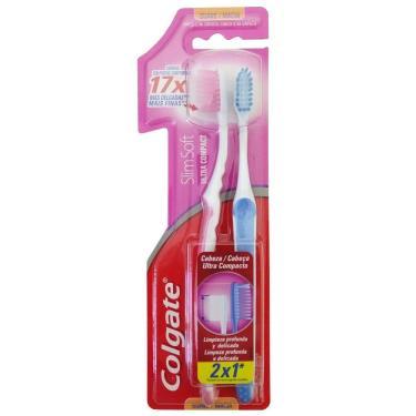 dca485b34 Escova Dental Colgate Slim Soft Compact Suave Macia LV2 PG1