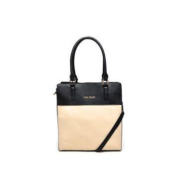 Bolsa Tote Bag Grande Bicolor Alice Palucci Preto/areia Al4805
