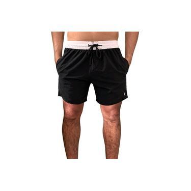 Shorts Masculino Praia Academia Tactel c/ Elastano Bolsos Laterais Ref.398