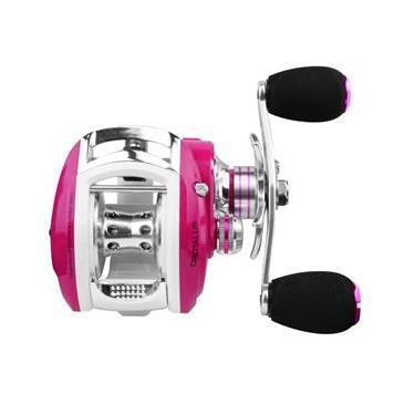 Carretilha Crotalus Pink Esquerda - Albatroz Fishing