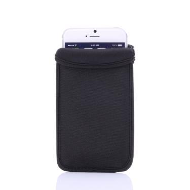 Bolsa protetora de neoprene flexível, macia, capa para iphone 4 4S 5 5S 6 6s 7 8 plus, abertura capa