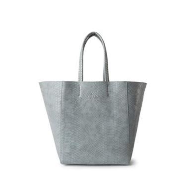 Bolsa Shopping Bag Dupla Face Ellus AZUL croco feminina