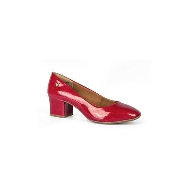 Sapato Social Feminino Salto Baixo Mississipi Vermelho 0111