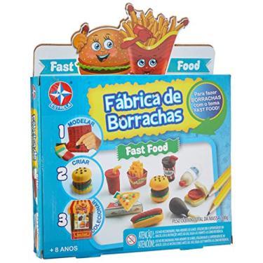 Imagem de Fábrica De Borrachas Fast Food Brinquedos Estrela Multicores