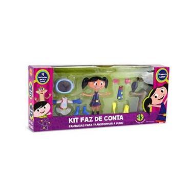 Boneca O Show da Luna Kit Faz de Conta Fantasias Para Transformar a Luna  DTC