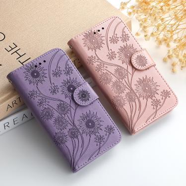 Carteira flip flor 3d capa de couro para iphone 11 pro x xs xr max se 6s 7 8 plus 12 pro capa de