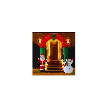 Imagem de Arco Inflável Papai Noel boneco De Neve 2,40m 127v