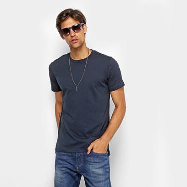 Camiseta Básica Diesel com Fenda Masculina - Masculino 68dda79fad6