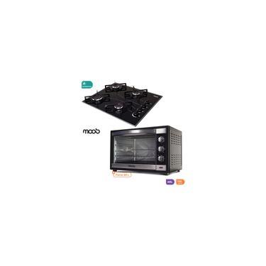 Imagem de Forno Eletrico 60 Litros Com Espeto Giratorio 110V Moob + Cooktop A Gas 4 Bocas Automatico Moob