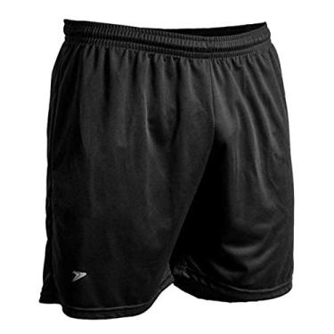 Calção Shorts Masculino Futebol Poker Preto
