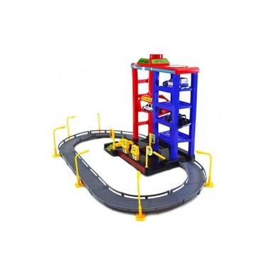 Imagem de Brinquedo Pista de Carrinho Garagem Elevador posto 3 carros