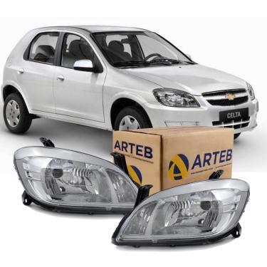 Par Farol H4 Chevrolet Celta 2006-2015 Arteb