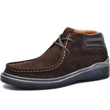 Bota Worker Over Boots Couro Camurça Marrom  masculino