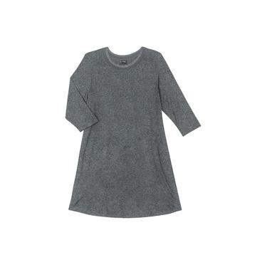 Vestido Plus Size de Molecotton Rovitex Plus Cinza