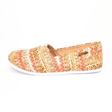 Alpargata Quality Shoes 001 Étnico Laranja  feminino