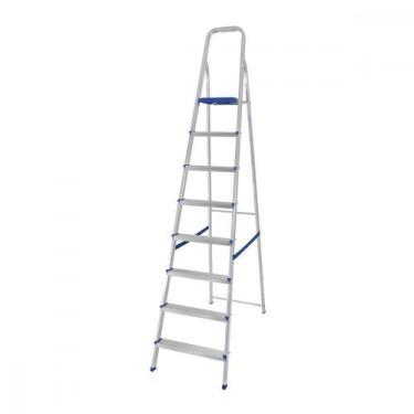 Escada Dobrável em Alumínio 8 Degraus Mor 5106