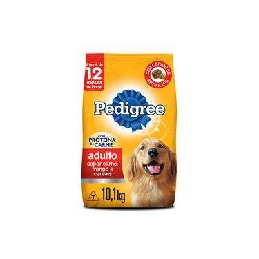 Ração Seca Pedigree Carne, Frango E Cereais Para Cães Adultos Raças Médias E Grandes - 10,1 Kg