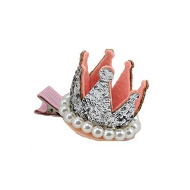 Bico de Pato Infantil Ania Store Crown Prata  menina
