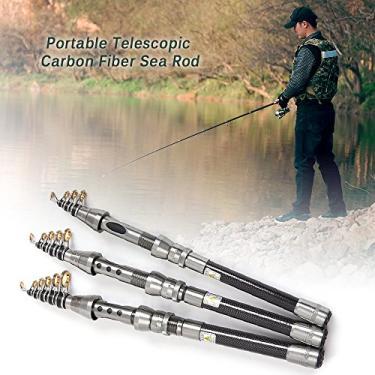 Anself Portátil de fibra de carbono telescópica vara de pesca retrátil viagem Spinning pesca pólo de água salgada barco Sea Rod