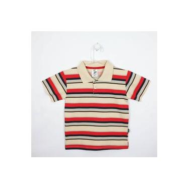 Camiseta Infantil Masculina Manga Curta Cáqui, Cinza E Vermelha