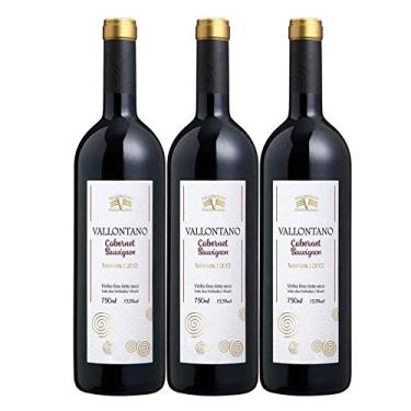 Kit 3 Vinho Tinto Brasileiro Vallontano Cabernet Sauvignon Reserva 2015