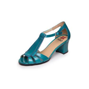 Sandalia De Salto Bloco - Cobalto / Petroleo 7836  feminino