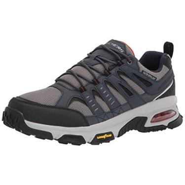 Skechers Sapato Oxford Masculino Skech Air Envoy, Azul-marinho/cinza, 10