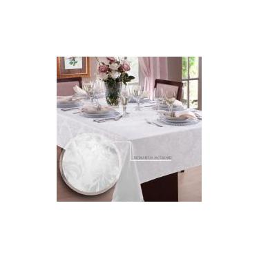 Toalha de mesa Jacquard 6 Lugares  Admirare - Branca -