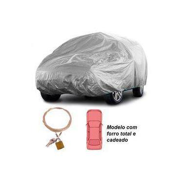 Capa Automototiva Cobrir Carro Protetora Forrada Total e Cadeado Tamanho G Carrhel