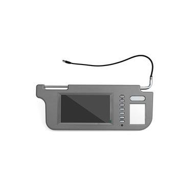 Cinza / bege tela LCD espelho interior Visor Monitor Câmera Traseira Com Fio Kit Esquerda / Direita para Carro Retrovisor Câmera Player Set