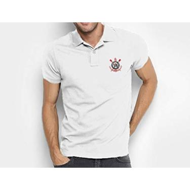 Camisa do Corinthians 100% Bordada (Branco, G)