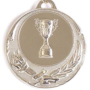 Medalha Ax Esportes 55Mm Honra Ao Mérito Prateada Fa468-Pç