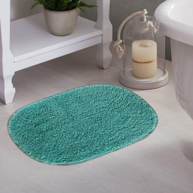 Imagem de Tapete De Banheiro Oval Myssi Turquesa - Corttex