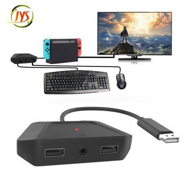 Conversor de teclado e mouse JYS-NS200 para Nintendo Switch para Xbox One XS para PS4 PS3 Gamepad Adaptador de controlad Banggood