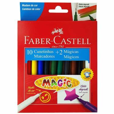 Canetinha Hidrográfica 10 Cores Magic Faber Castell 1027035