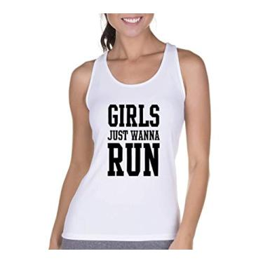 Regata Criativa Urbana Cavada Fitness Girls Branco GG