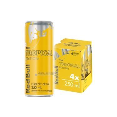 Energético Red Bull Energy Drink, Tropical, 250 ml (4 latas)
