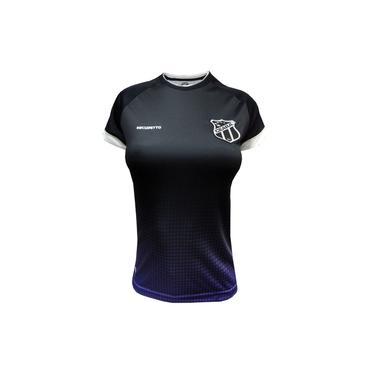 Camisa Feminina Ceará Esporte Clube Baby Look Preta e Roxa