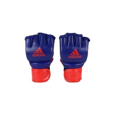 Luva Adidas MMA em Couro Azul/Vermelho