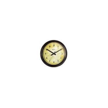 f9b5b1a6842 Relógio de Parede Analógico Base Envelhecida Mecanismo Step Herweg Ouro  Envelhecido