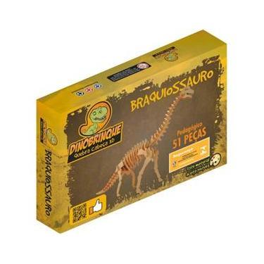 Imagem de Quebra Cabeça 3D Dinossauro Braquiossauro 51 Peças em MDF - Dinobrinque