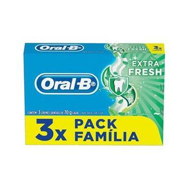 Creme Dental Oral-B Extrafresh 70g 3 unidades