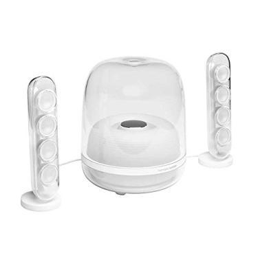 Harman Kardon Soundsticks 4 - Sistema de Caixas de Som 2.1 Bluetooth Branco